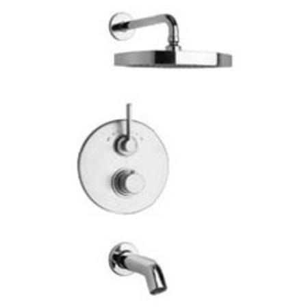 Latoscana Elix Thermostatic Valve With 2 Way Diverter In A Chrome finish bathtub and showerhead faucet systems Latoscana