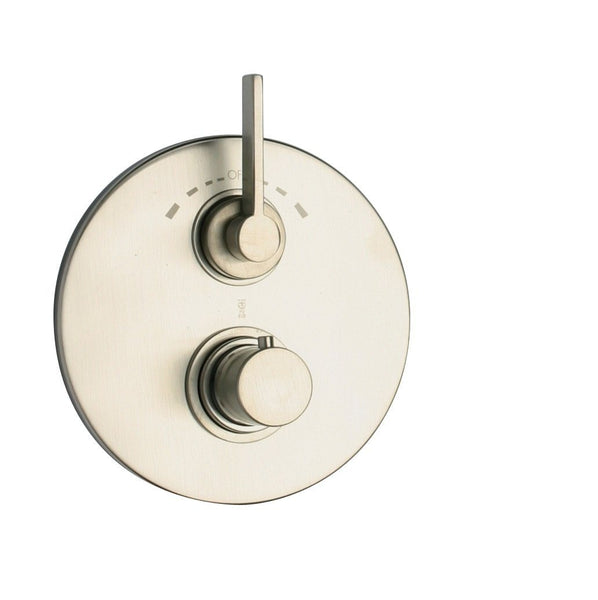 Latoscana Elix Thermostatic Valve With 2 Way Diverter Volume Control In A Brushed Nickel Finish