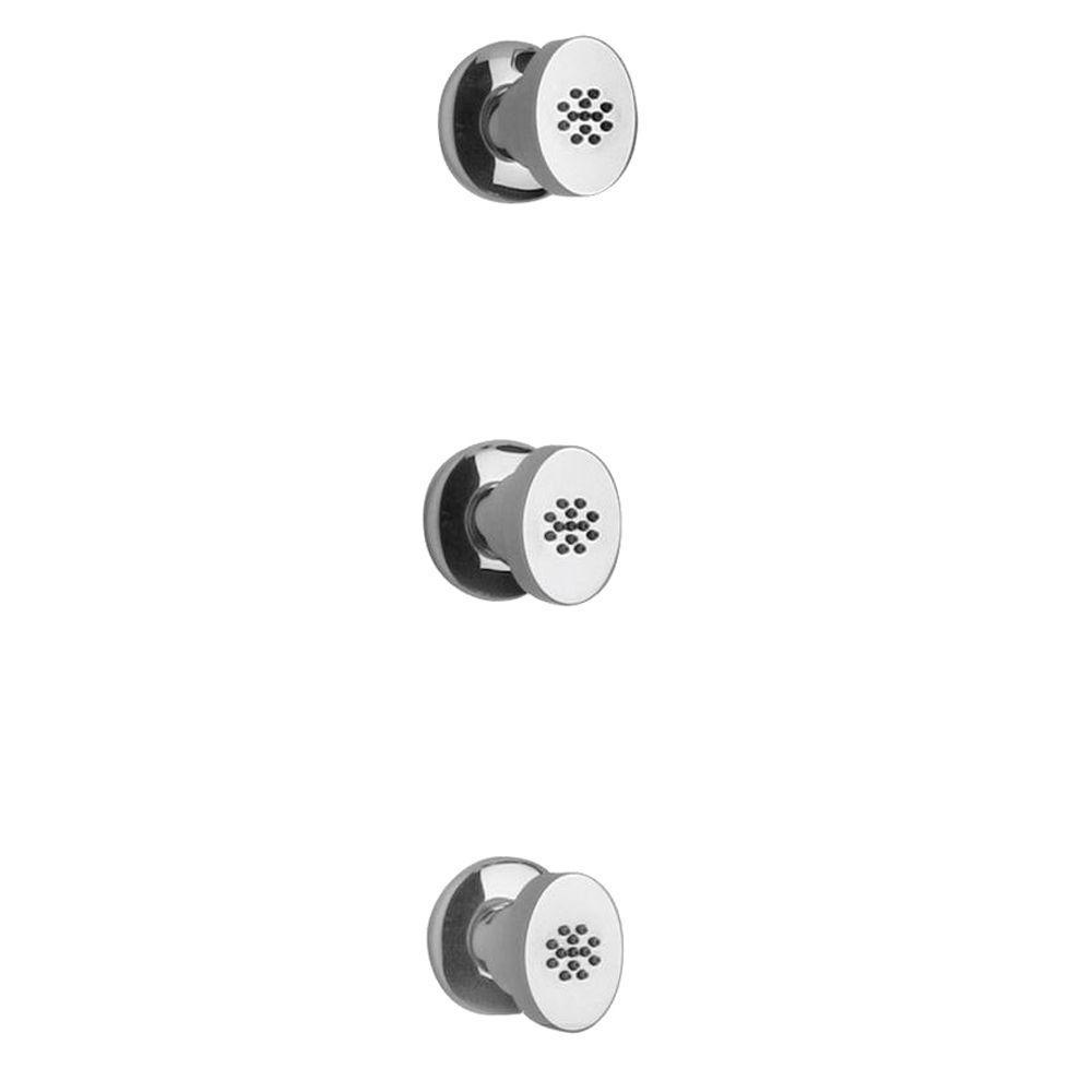 Latoscana Novello 3 Body Jets In Brushed Nickel bathroom fixture hardware parts Latoscana