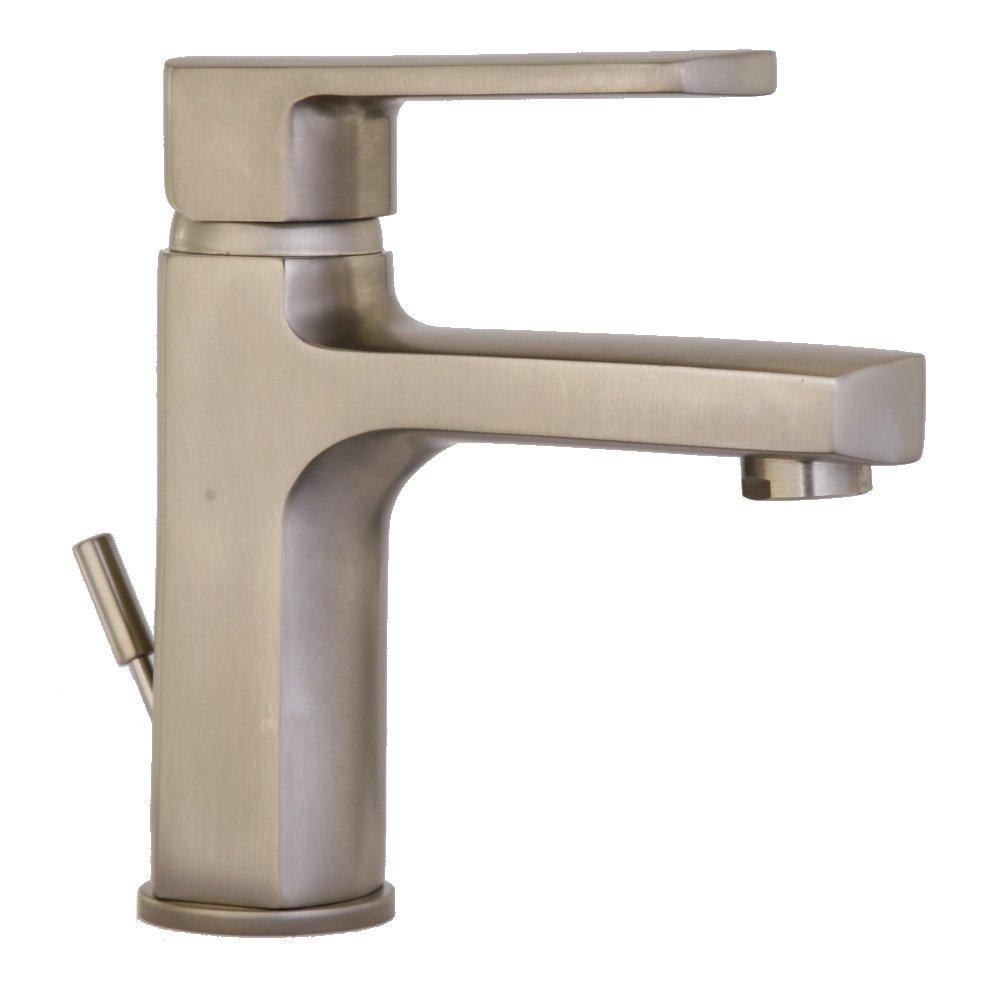 Latoscana Novello Single Lever Handle Lavatory Faucet In Brushed Nickel touch on bathroom sink faucets Latoscana