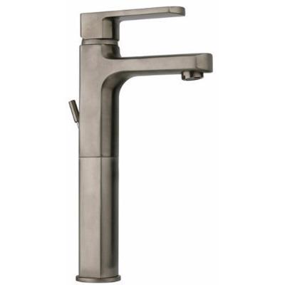 Latoscana Novello Tall Waterfall Single Lever Handle In Brushed Nickel touch on bathroom sink faucets Latoscana