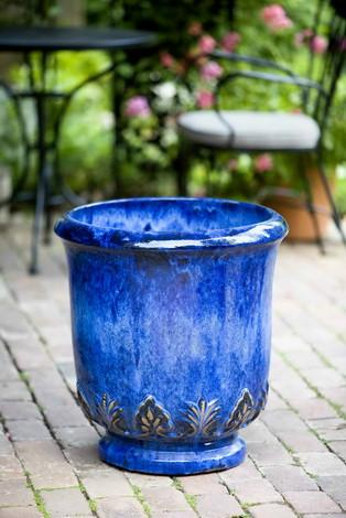 Campania International Glazed Terra cotta Gulf Planter Urn/Planter Campania International