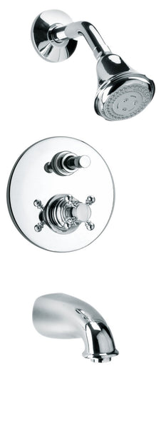 Latoscana Ornellaia Pressure Balance Valve Tub And Shower Set In A Chrome finish