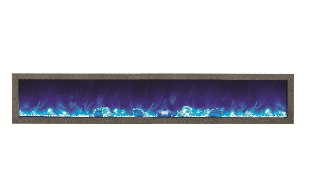 Amantii Two-tone Blacksmith style steel overlay in Metro Steel & Sierra Copper Electric Fireplace Amantii