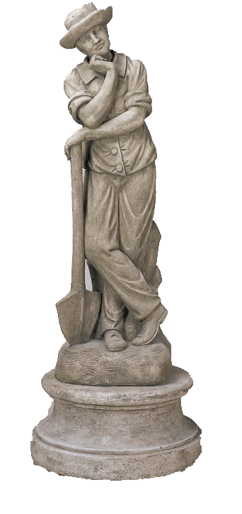 Contadino Statue Cast Stone Outdoor Asian Collection Statues Tuscan