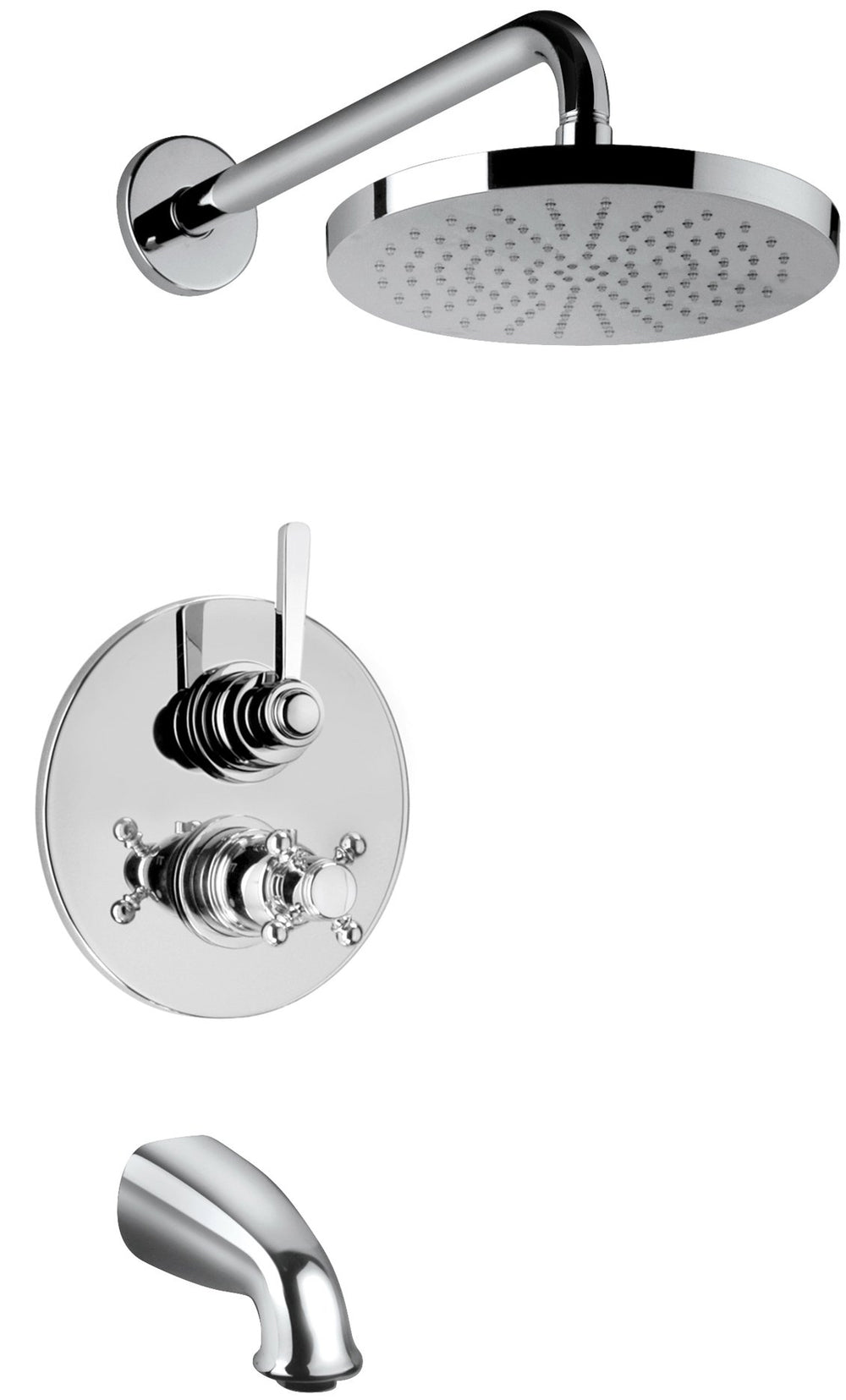 Latoscana Firenze Thermostatic Valve With 2 Way Diverter Volume Control In Brushed Nickel Finish bathtub and showerhead faucet systems Latoscana