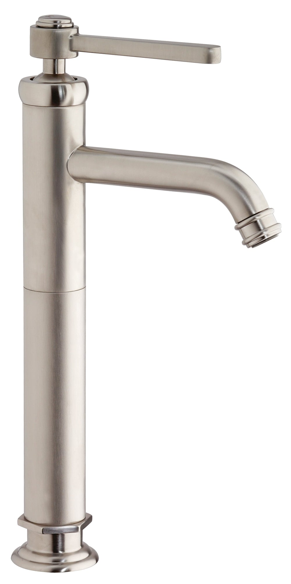 Latoscana Firenze Tall Single Handle Lavatory Vessel In Brushed Nickel Finish Bathroom Faucet Latoscana