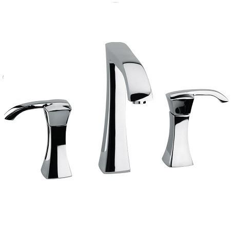 Latoscana Lady widespread lavatory faucet with lever handles in Chrome touch on bathroom sink faucets Latoscana