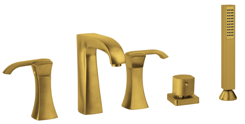 Latoscana Lady Roman Tub With Lever Handles In Matt Gold bathtub and showerhead faucet systems Latoscana