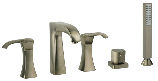 Latoscana Lady Roman Tub With Lever Handles And A Diverter With Hand Held Shower In Brushed Nickel