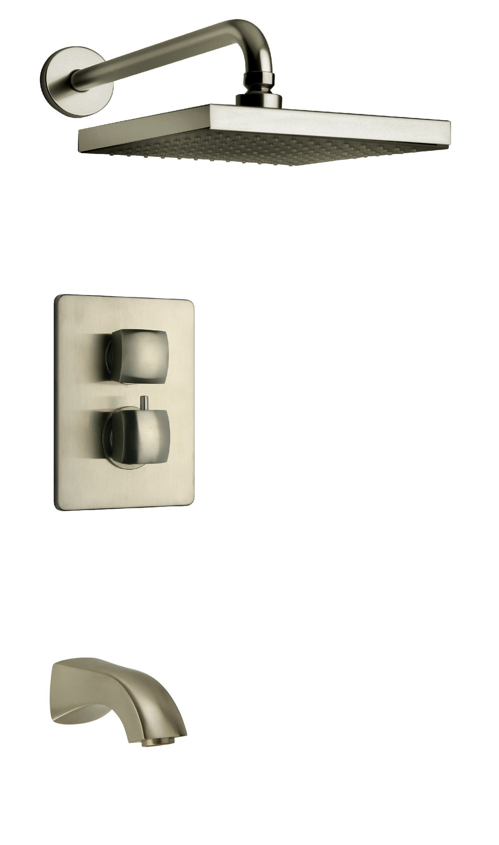 Latoscana Lady Thermostatic Valve With 2 Way Diverter Brushed Nickel bathtub and showerhead faucet systems Latoscana