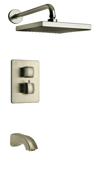 Latoscana 89PW691KIT Lady Thermostatic Valve With 2 Way Diverter Volume Control In Brushed Nickel