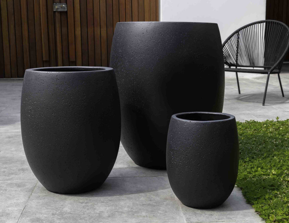 Campania International Fiber Cement Laguna Planter - S/3 Urn/Planter Campania International Playa Noche