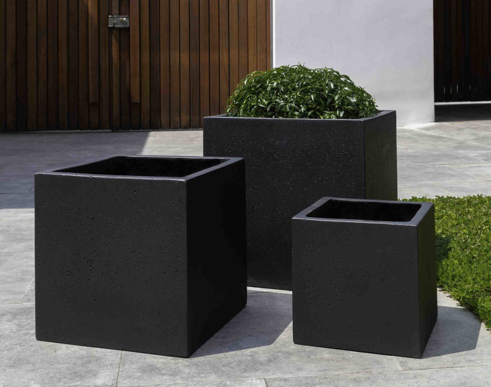 Campania International Fiber Cement Laguna Square Planter - S/3 Urn/Planter Campania International Playa Noche