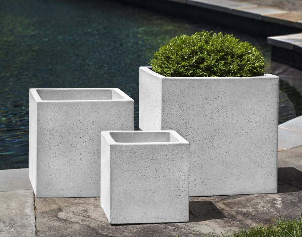 Campania International Fiber Cement Laguna Square Planter Urn/Planter Campania International
