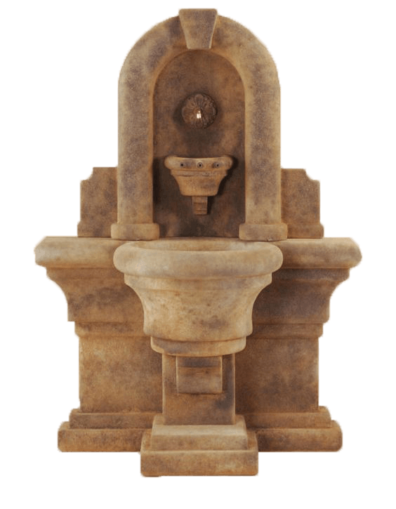 Etruria Wall Cast Stone Outdoor Fountain Fountain Tuscan