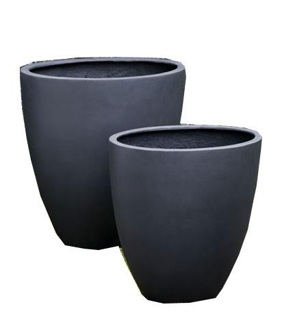 Campania International Fiber Clay Tall Oval Lite Planter Urn/Planter Campania International