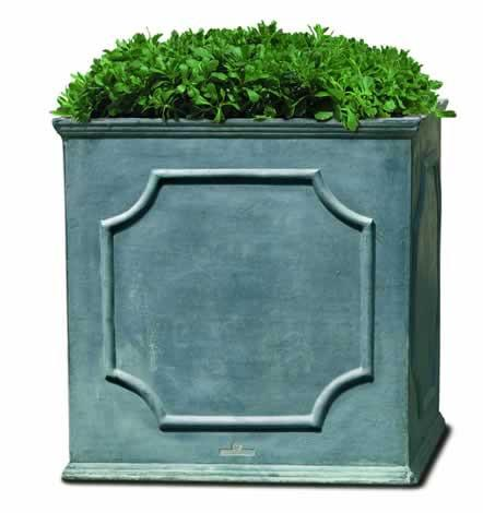 Campania International Fiber Clay Sm Cumberland Sq Planter Urn/Planter Campania International