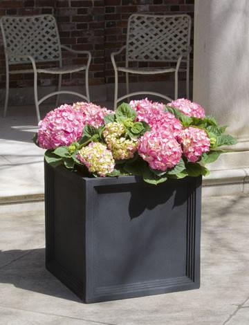 Campania International Fiber Clay Sandhurst Square Planter Urn/Planter Campania International