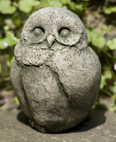 Campania International Cast Stone Baby Barn Owl Statuary Campania International