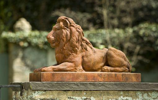 Campania International Cast Stone Classic Lion Statuary Campania International
