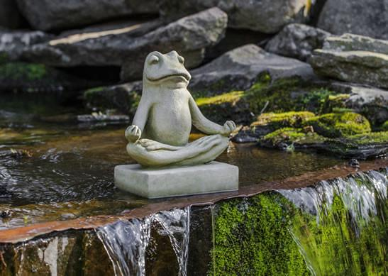 Campania International Cast Stone Mini Zen Frog Statuary Campania International