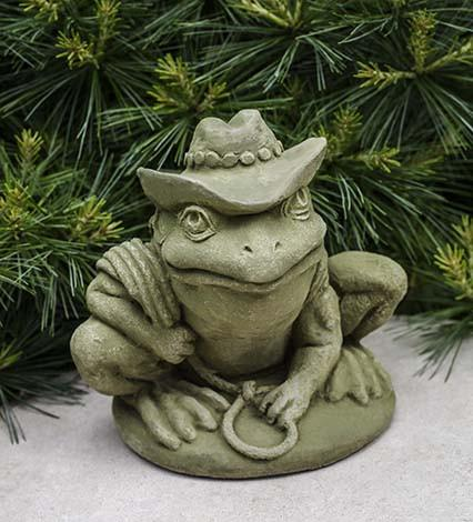Campania International Cast Stone Cowboy Frog Statuary Campania International