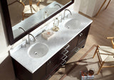 "ARIEL Cambridge 73"" Double Sink Bathroom Vanity Set in Espresso"