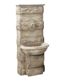 Abetone Wall Cast Stone Outdoor Garden Fountains