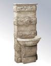 Abetone Wall Cast Stone Outdoor Garden Fountains Fountain Tuscan