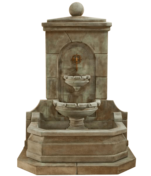 Acquitaine Wall Outdoor Cast Stone Garden Fountain For Spout Fountain Tuscan