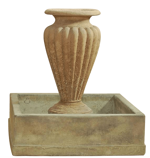 Anfora Rigata Outdoor Cast Stone Garden Fountain