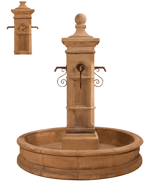 Aquitaine Pond Outdoor Cast   Stone Garden Fountain