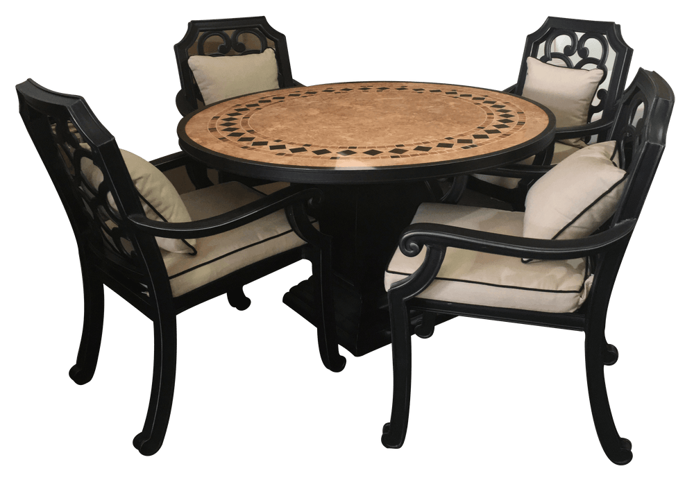Astoria Round Dining Set Of 5 Outdoor Furniture Tuscan
