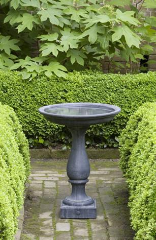 Williamsburg Candlestand Cast Stone Outdoor Garden Birdbath BirdBath Campania International