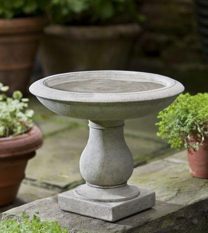 Beauvoir Cast Stone Outdoor Garden Birdbath BirdBath Campania International