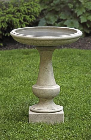 Chatham Cast Stone Outdoor Garden Birdbath BirdBath Campania International