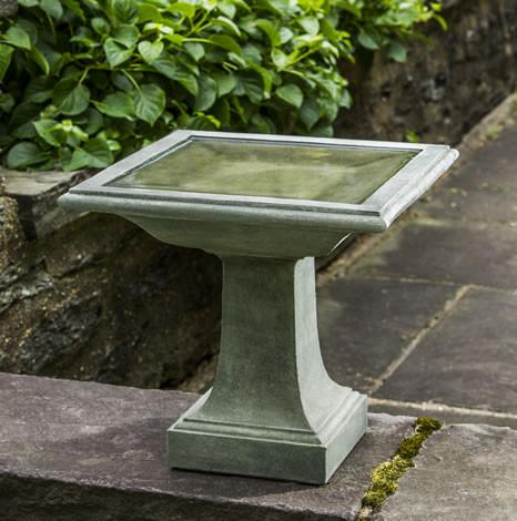 Avery Cast Stone Outdoor Garden Birdbath BirdBath Campania International