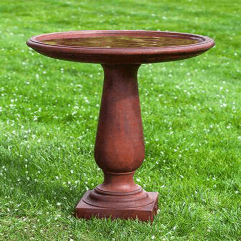 Westbury Cast Stone Outdoor Garden Birdbath BirdBath Campania International