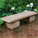 Ryokan Cast Stone Outdoor Garden Bench