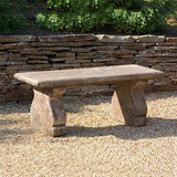 Provencal Cast Stone Outdoor Garden Bench