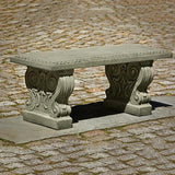 Classic Cast Stone Outdoor Garden Bench