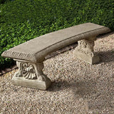 Westbury Cast Stone Outdoor Garden Bench