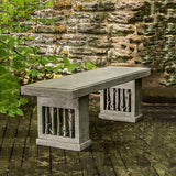 Birches Cast Stone Outdoor Garden Bench