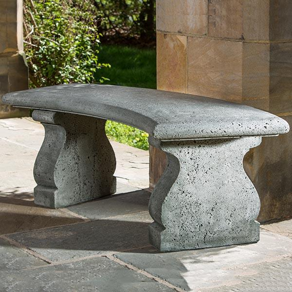 Excellent Provencal Curved Cast Stone Outdoor Garden Bench Inzonedesignstudio Interior Chair Design Inzonedesignstudiocom