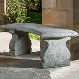 Provencal Curved Cast Stone Outdoor Garden Bench