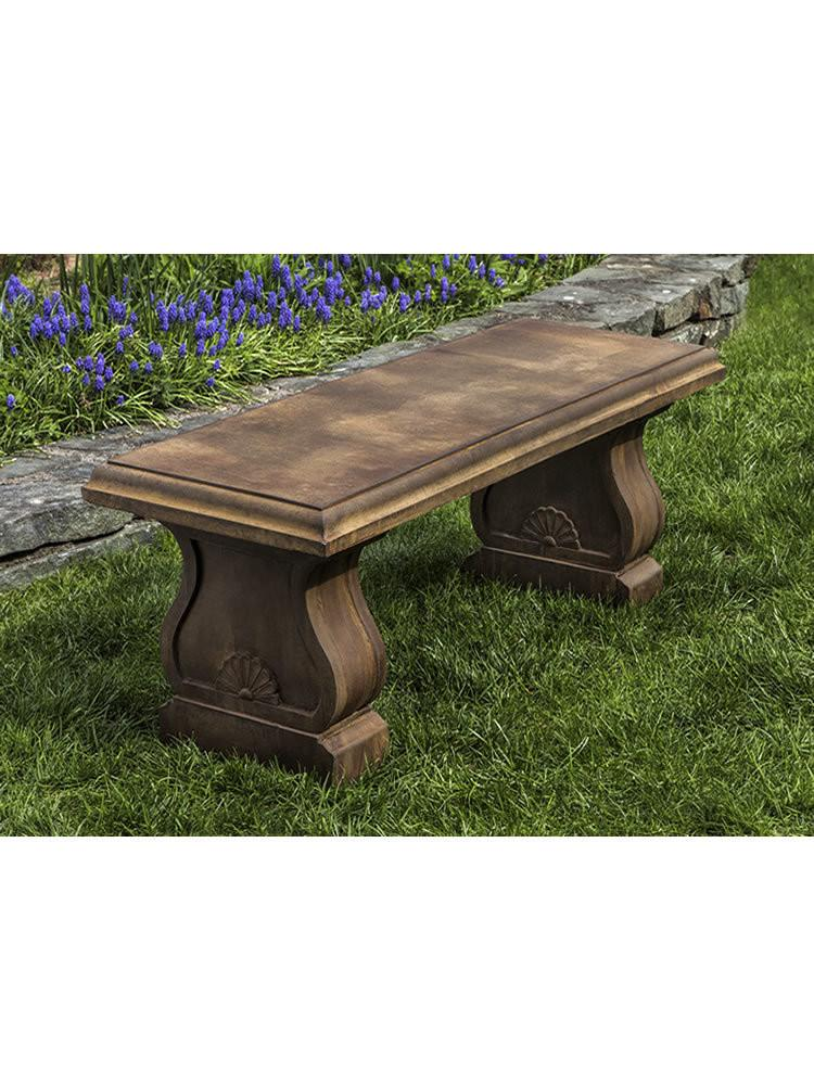 Westland Cast Stone Outdoor Garden Bench Outdoor Benches/Tables Campania International