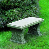 Snowdrop Cast Stone Outdoor Garden Bench