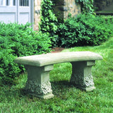 Pansy Cast Stone Outdoor Garden Bench
