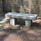 Autumn Leaves Cast Stone Outdoor Garden Bench